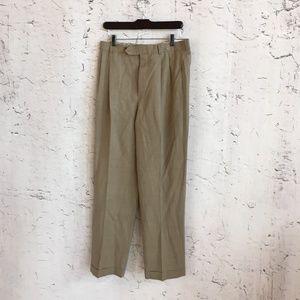 346 BROOKS BROTHERS TAN WOOL DRESS PANTS 32 X 32